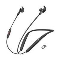 Jabra Evolve 65E MS + Link 370 In-Ear Bluetooth SFB-Optimised Earphones with Mic