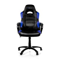 Arozzi Black & Blue Enzo Adjustable Ergonomic Motorsports Inspired Desk Chair
