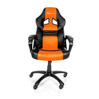 Arozzi Black & Orange Monza Adjustable Ergonomic Motorsports Inspired Desk Chair