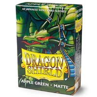 Dragon Shield Japanese 60ct Apple Green MATTE 59x86mm Sleeves