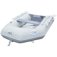 Inflatable 2.3m PVC Boat with Air Deck - Grey