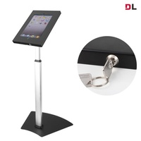 Brateck Anti-Theft Secure Enclosure Floor Stand for iPad - Black with Adjustable Height