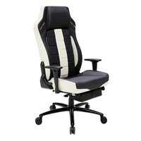 DXRacer Classic Series CB120 Office/Gaming Chair with Leg Rest - Black & White