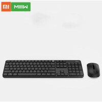 Xiaomi MIIIW Wireless Office Keyboard & Mouse Set Only One USB control 104 Keys 2.4GHz Multi System Compatible Wireless Keyboard BLACK