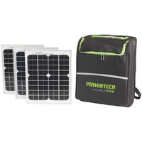 300W Pure Sine Wave Portable Power Pack with 3 x 10W Solar Panels