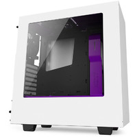 NZXT White & Purple S340 Mid Tower Chassis