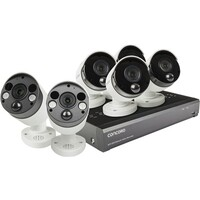 Concord 8 Channel 4K NVR Package - 4x4K PIR IP Cameras and 2 IP Floodlight Camera with 2 way audio