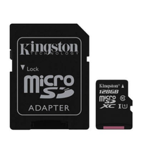 Kingston 128GB microSDXC Class 10 UHS-I 45R Flash Card